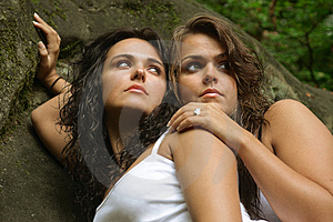 Two Sisters In Nature Stock Photo - Image: 4354660