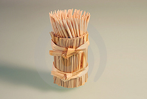Toothpicks On The White Background Royalty Free Stock Image - Image: 4360696