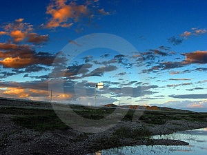 Road To Dusk Royalty Free Stock Photos - Image: 4361098