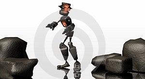 Cast Iron Robot Stock Photo - Image: 4364030