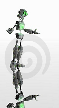 Robot Green Eyes Stock Images - Image: 4364054