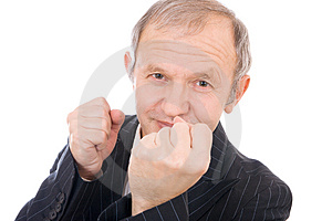 The Businessman Isolated On A White Background Stock Photography - Image: 4366142