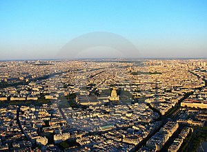 Paris From Eiffel Tower Royalty Free Stock Photos - Image: 4367088