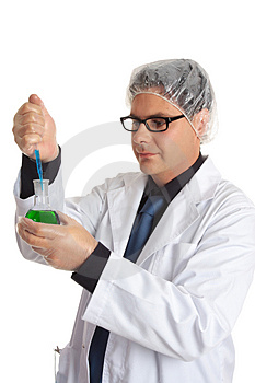 Scientist With Laboratory Sample Stock Image - Image: 4368221