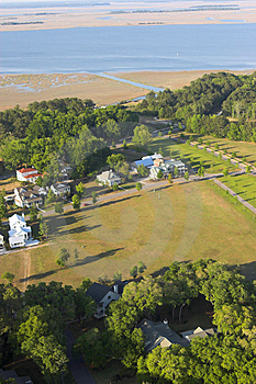 Aerial View Of Expensive Homes Stock Images - Image: 4373344