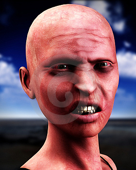 Bald Zombie Women  Stock Image - Image: 4377751