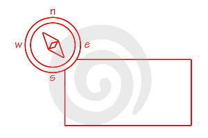 Compass - Red And White Royalty Free Stock Photos - Image: 4379988