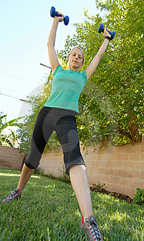 Stretching Tall Royalty Free Stock Images - Image: 4380189