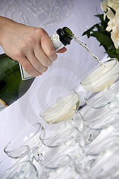 Champagne toast - wedding Royalty Free Stock Image