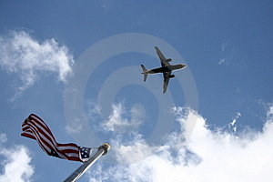 Stock Photo - Overflew the flag