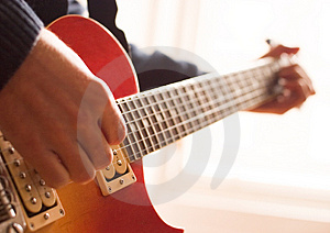 Practising the Guitar Royalty Free Stock Photo