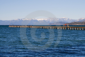 Pier At The Lake Royalty Free Stock Image - Image: 4386456