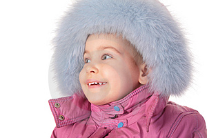 Little Girl In Furry Hat Stock Photos - Image: 4387963