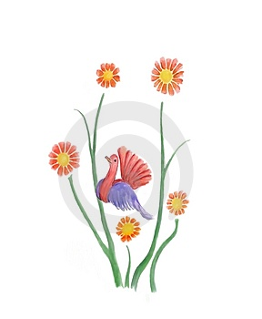 Flower Bird Stock Image - Image: 4388501