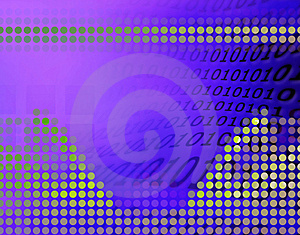Binary-code Illustration. Stock Photography - Image: 4390192
