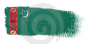Brushstroke Flag Turkmenistan Stock Photos - Image: 4390563