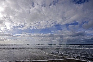 Clouds And Ocean In Portugal Stock Photos - Image: 4390853