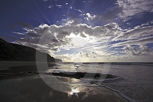 Clouds And Ocean In Portugal Royalty Free Stock Photography - Image: 4390867