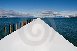 Public Pier On The Lake Royalty Free Stock Photography - Image: 4394347