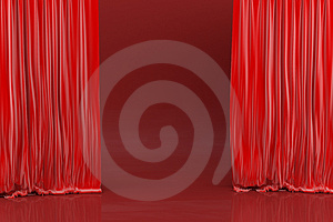 Stage, red shades Stock Image