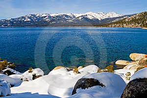 Lake In Winter Stock Photo - Image: 4404640
