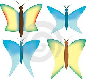 Set Butterflies - 2 Stock Photos - Image: 4405303