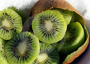 Kiwi Slices Royalty Free Stock Photography - Image: 4405877