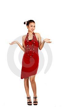 Slim Lady Posing On Camera Stock Photos - Image: 4407603