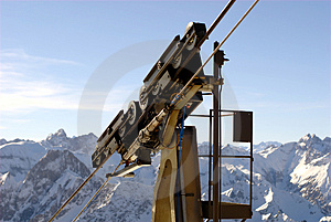 Cable Car Holder Stock Photo - Image: 4409950