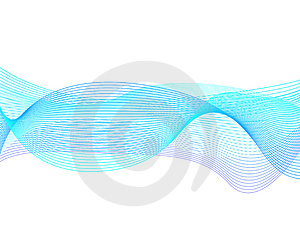 Blue wavy background Stock Photography