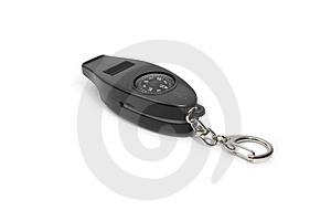 Keychain With Compass Stock Photos - Image: 4412613