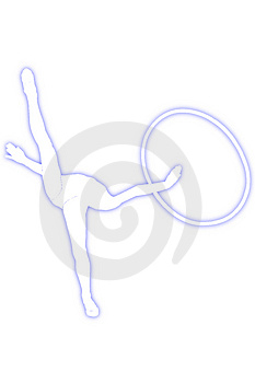 Gymnast With A Hoop Stock Images - Image: 4415704