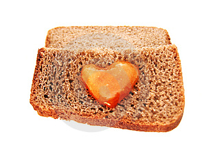 Bread With Hunny Hurt Stock Photography - Image: 4415722
