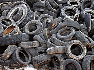 Dumped Tires Free Stock Photography