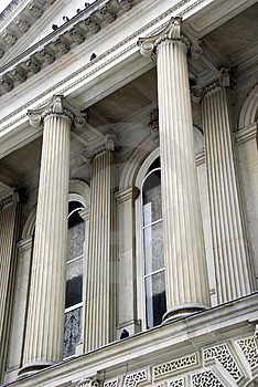 Courthouse Columns Stock Image - Image: 4417741