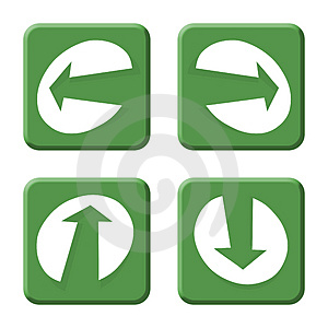 Arrows Green Royalty Free Stock Photo - Image: 4426065