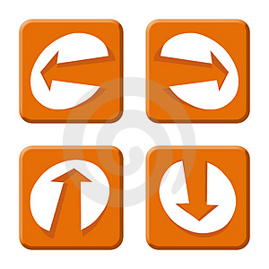 Arrows Orange Royalty Free Stock Images - Image: 4426089