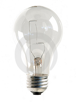 Clear Light Bulb Stock Photo