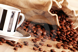 Coffee in a cup Stock Images