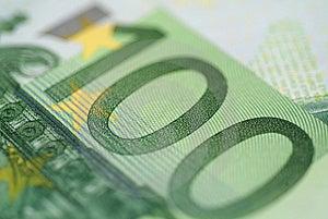 Euro 100 Royaltyfri Fotografi - Bild: 4431877