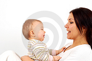 Mother and baby girl Stock Images