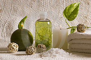 Aroma therapy items Stock Photos