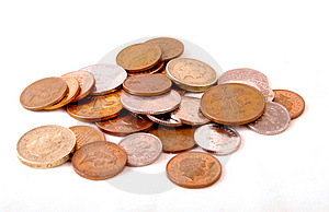Money Change Coins Royalty Free Stock Photos - Image: 4432988