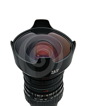 Fisheye Nice Lens Isolated Royalty Free Stock Images - Image: 4433939