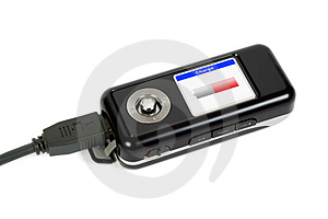 Charging Mp3 Player Stock Photos - Image: 4434783