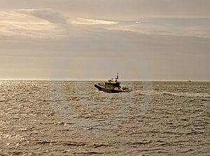 Pilot Boat At Dawn Stock Images - Image: 4435044