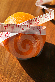 Taped Orange Royalty Free Stock Photo - Image: 4437465