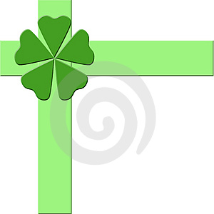 Green Bow And Ribbons Stock Images - Image: 4437944