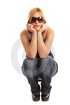 Glamor girl posing Free Stock Photography