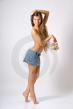 Topless girl Royalty Free Stock Photos